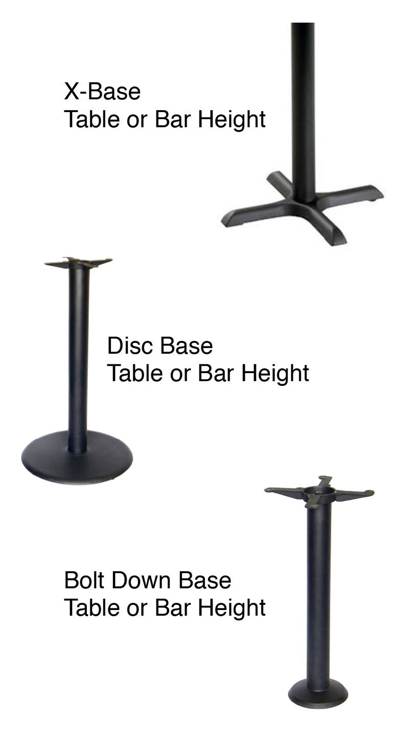 Our Standard Table Tops Are A Wilsonart LAMINATE With A Vinyl Bumper Edge,  Built For Durability. We Also Offer All Other Styles Of Table Tops, ...