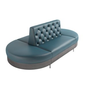 diamond tufted modular bowling sofa with laminated base