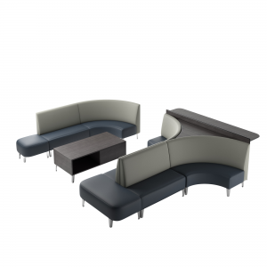 bowling alley sofa layout