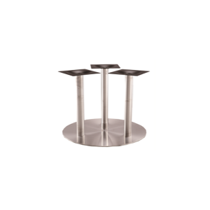 Stainless Steel Round Triple Base